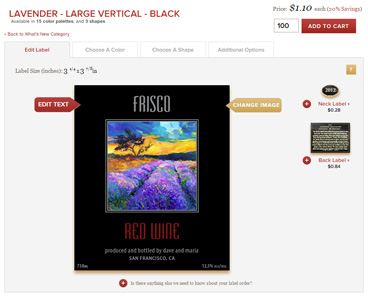 Wine Label Editor Preview