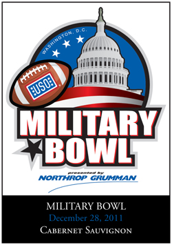 Military Bowl Wine Label
