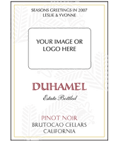 Custom Image Wine Labels - Festivity