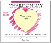 Custom Image Wine Labels - Romantic Vision
