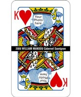 Custom Image Wine Labels - King of Hearts