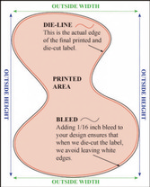 Full Custom Design Wine Labels - Full Custom Design Custom Shape