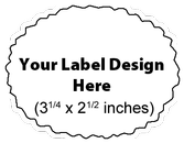 Submit Your Own Design Wine Labels - Deckle Oval