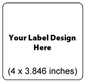 Submit Your Own Design Wine Labels - Large Radius