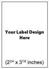 Submit Your Own Design Wine Labels - Rectangle Vertical
