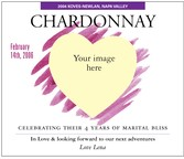 Custom Image Wine Labels - Romantic Vision 2