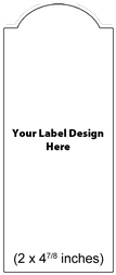 Submit Your Own Design Wine Labels - Single Oval
