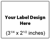 Submit Your Own Design Wine Labels - Small Horizontal