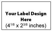 Submit Your Own Design Wine Labels - Tall Horizontal