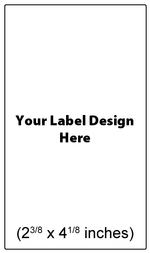 Submit Your Own Design Wine Labels - Tall Vertical